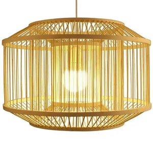 Fine Asianliving Fine Asianliving Ceiling Light Pendant Lighting Bamboo Lampshade Handmade - Carina