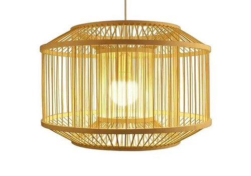 Fine Asianliving Bamboe Hand gevlochten Hanglamp Dubbel Naturel