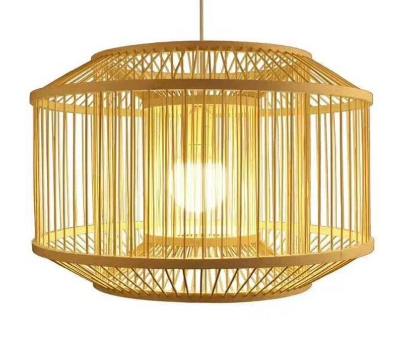 Deckenleuchte Pendelleuchte Beleuchtung Bambus Lampenschirm Handgefertigt - Carina