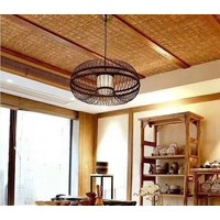Plafonnier Luminaire Luminaire Abat-Jour Bambou Fait Main - Morris
