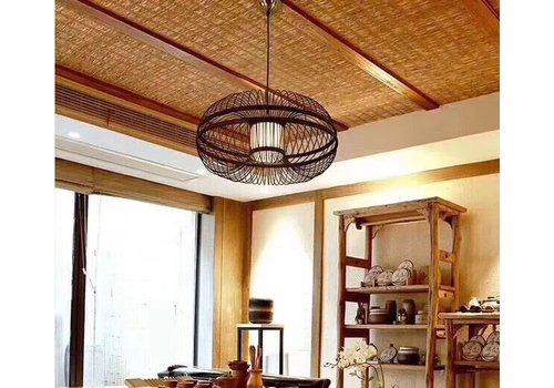 Fine Asianliving Ceiling Light Pendant Lighting Bamboo Lampshade Handmade - Morris
