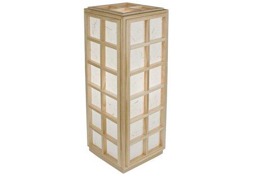 Fine Asianliving Japanische Lampe Holz und Shoji Reispapier Natur - Nagoya