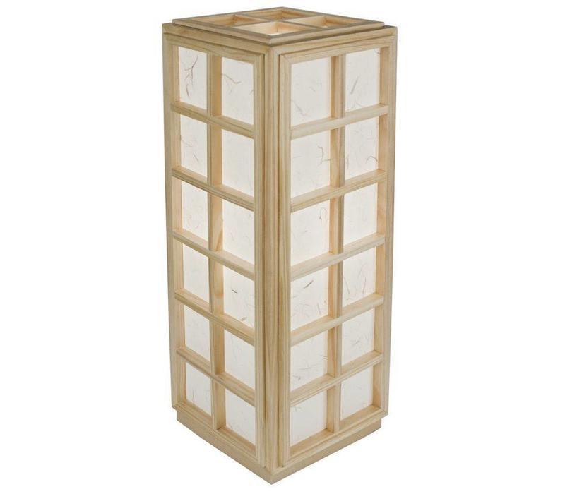 Lampe de table japonaise en papier de riz Shoji Wood Nagoya Natural