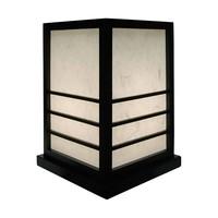 Japanse Tafellamp Shoji RijstPapier Hout Zwart - Miyazaki B20xD20xH28cm