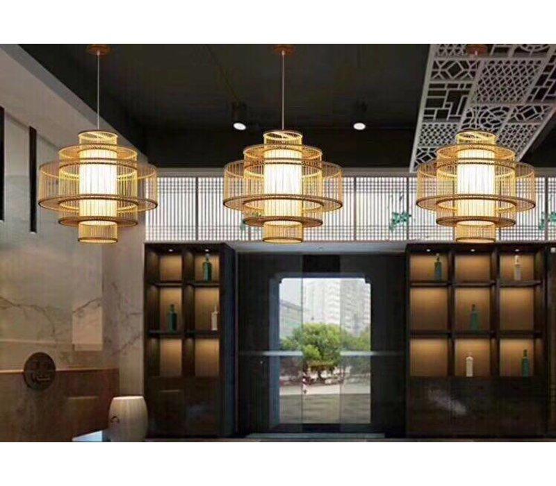 PREORDER WEEK 32 Bamboo Pendant Lamp Ceiling Lampshade Handmade - Leona