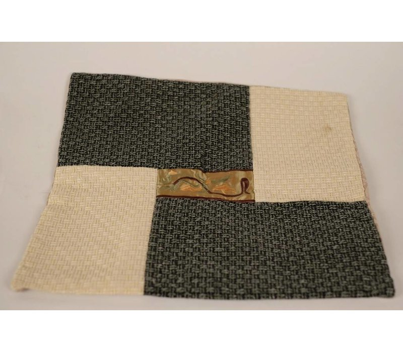 Chinese Cushion Four Panels Grey Beige 40x40 cm without Filling