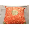 Fine Asianliving Chinese Decoratieve Kussenhoes Passion Rood Goud Draken 40x40cm Zonder Vulling