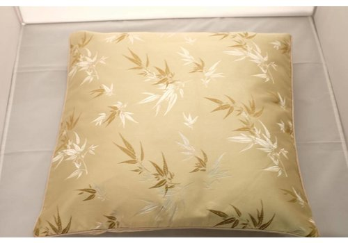 Fine Asianliving Fine Asianliving Chinese Cushion Yellow Bamboo 40x40cm Zonder Cushion