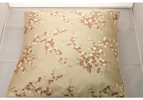 Fine Asianliving Chinese Kussen Goud Bloesems 40x40cm Zonder Vulling