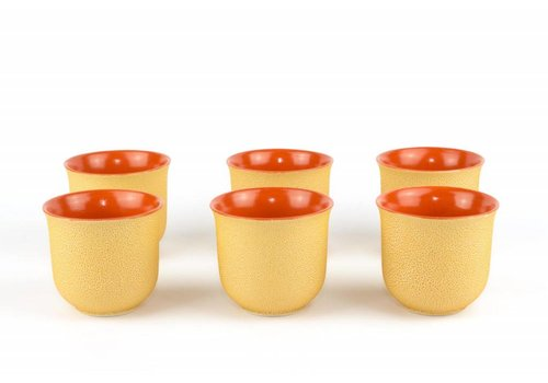 Fine Asianliving Oranje Gietijzer theekop - Vietnamese