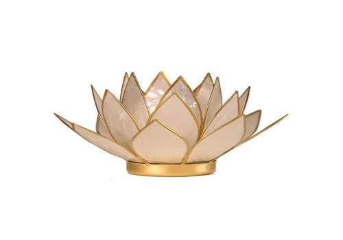 Fine Asianliving Fine Asianliving Sfeerlicht Kaarshouder Parelmoer Lotus