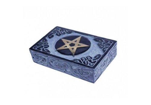 Fine Asianliving Jewelry box Storage box Handmade Pentagram Soapstone