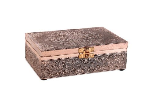 Fine Asianliving Jewelry box Storage box Mandala Coppered Aluminum