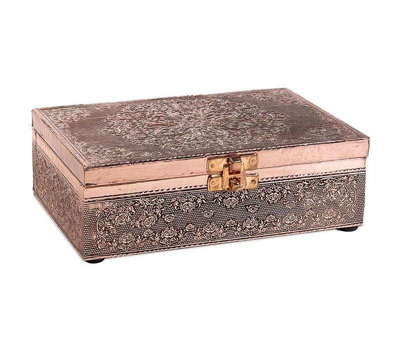 Jewelry box Storage box Mandala Coppered Aluminum