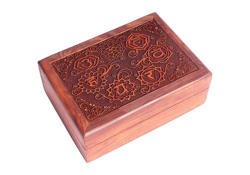 Fine Asianliving Fine Asianliving Sieradendoos Opbergbox 7 Chakra's Handgegraveerd