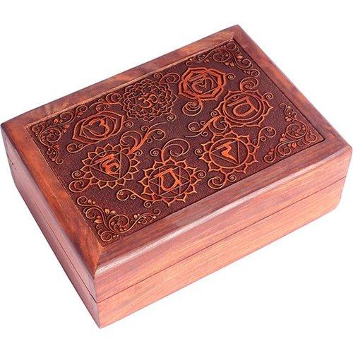 Jewelry box Storage box 7 Chakras Engraved
