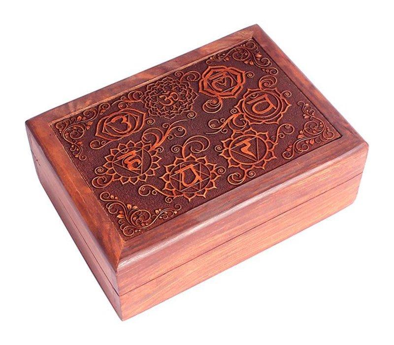 Fine Asianliving Sieradendoos Opbergbox 7 Chakra's Handgegraveerd