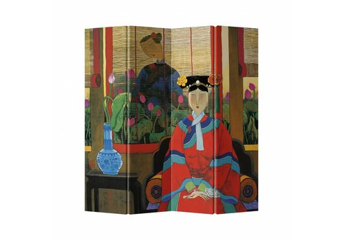 Fine Asianliving Fine Asianliving Room Divider Privacy Screen  4 Panel Asian Household