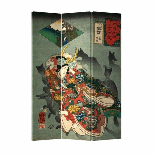 Kamerscherm Scheidingswand Japanse God Okami 120x180cm