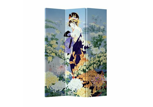 Fine Asianliving Fine Asianliving Room Divider Privacy Screen 3 Panel Geisha Flower Paradise