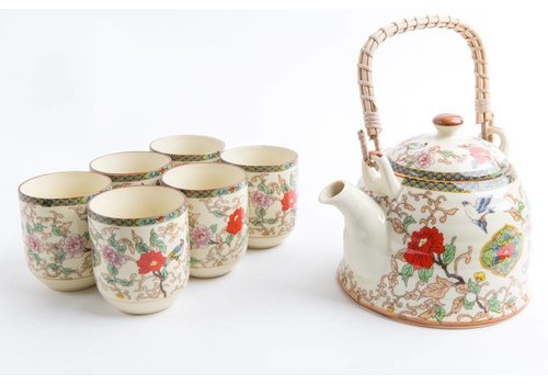 Fine Asianliving Chinese Theeset Porselein Bloemen Set/7