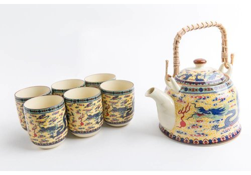 Fine Asianliving Chinese Theeset Porselein Dragon