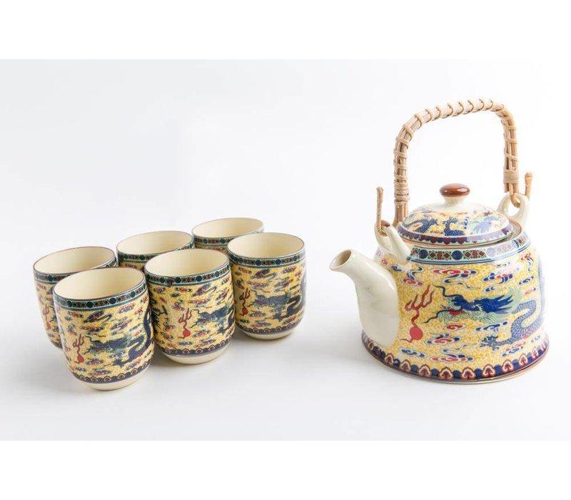 Chinese Tea set Porcelain Dragon