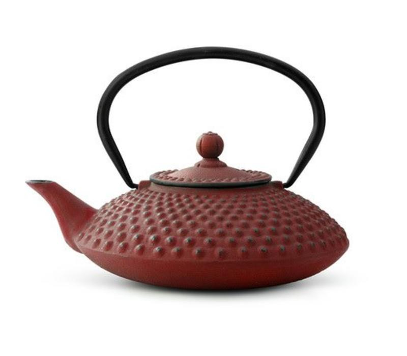 Cast Iron Teapot Xilin 1.25L Red