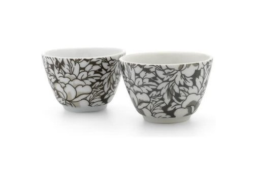Fine Asianliving Teacup Set / 2 Yantai Black