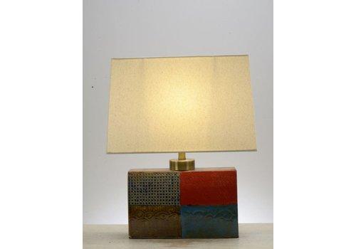 Fine Asianliving Tafellamp Vierkant Verschillende kleuren