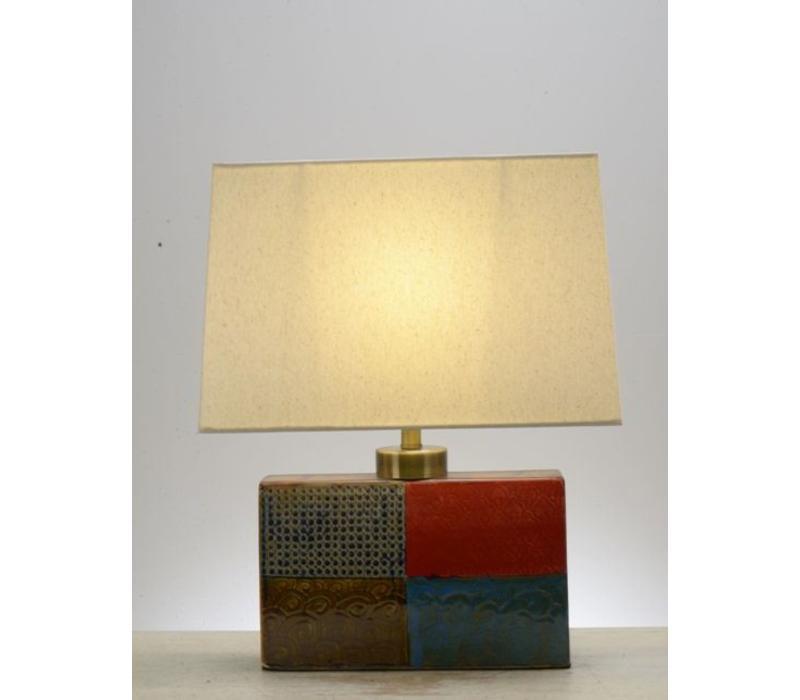 Tafellamp Vierkant Verschillende kleuren