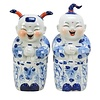 Fine Asianliving Set of Chinese Boy And Girl Blue