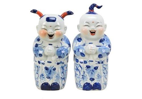 Fine Asianliving Set Chinese Jongen En Meisje Blauw