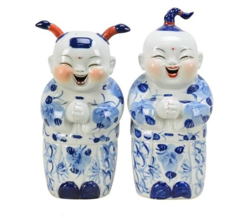 Set of Chinese Boy And Girl Blue