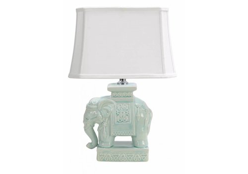 Fine Asianliving Oosterse Tafellamp Porselein Olifant Mint