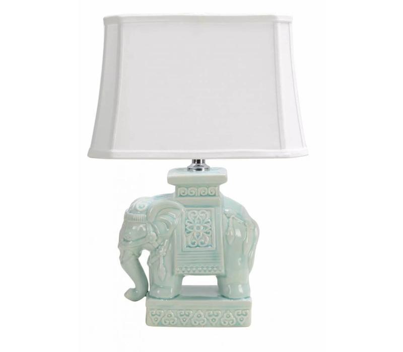 Oosterse Tafellamp Porselein Olifant Mint