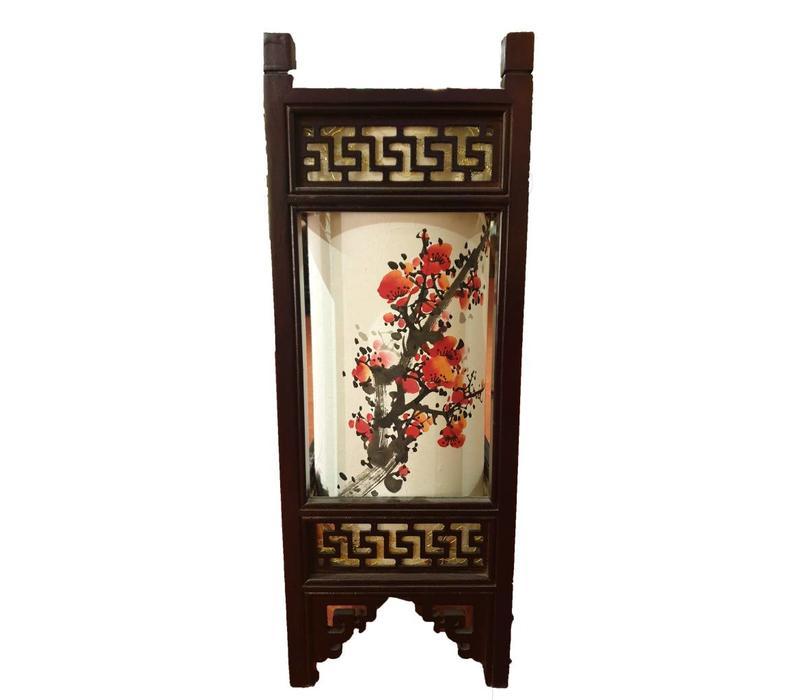 Fine Asianliving Japanse Tafellamp Rijstpapier Handbeschilderde Sakura