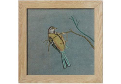 Fine Asianliving Schilderij Vogel Op Tak