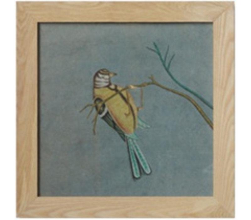 Schilderij Vogel Op Tak