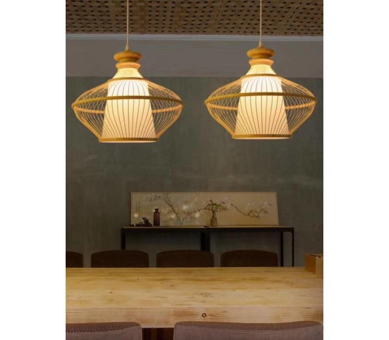 Fine Asianliving Ceiling Light Pendant Lighting Bamboo Lampshade Handmade - Ophelia