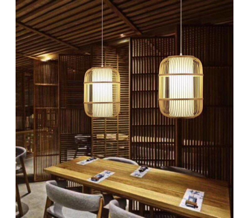 Fine Asianliving Lampara de techo Bambú Lampara Colgante Hecho a mano - Dior