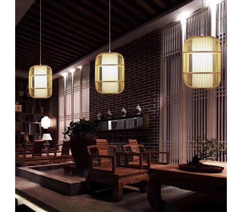 Fine Asianliving Plafoniera Lampada A Sospensione Bambù Paralume Fatto A Mano - Dior