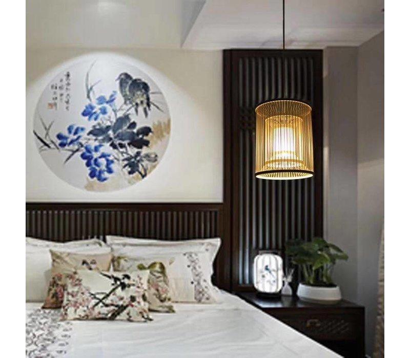 Fine Asianliving Plafoniera Lampada A Sospensione Bambù Paralume Fatto A Mano - Alice