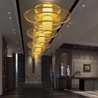 Ceiling Light Pendant Lighting Bamboo Lampshade Handmade - Nicole