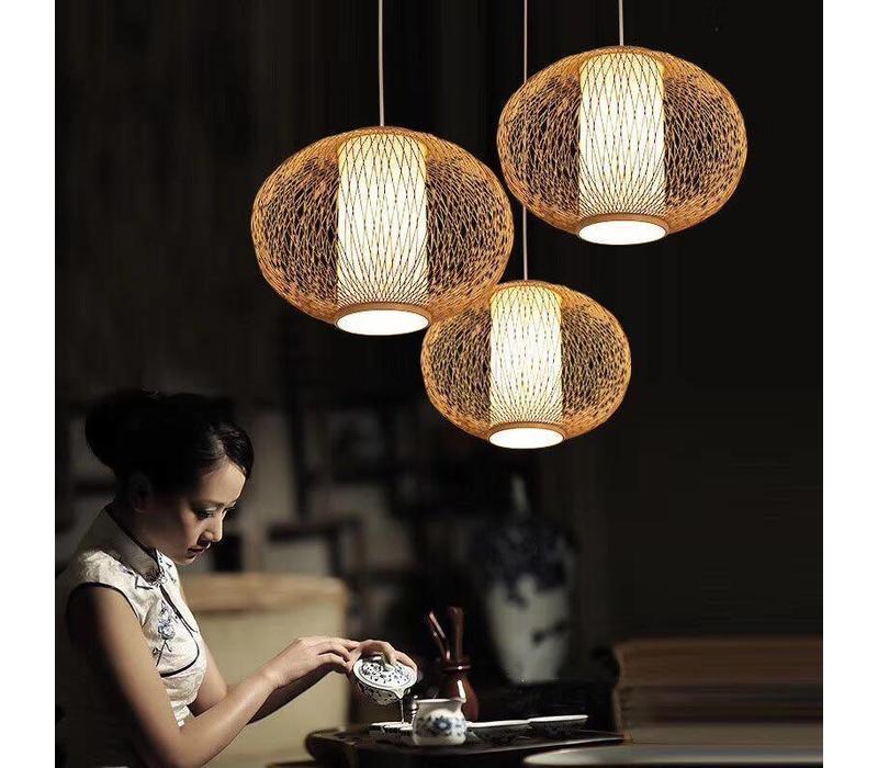 """Fine Asianliving Ceiling Light Pendant Lighting Bamboo Lampshade Handmade - """"Sophia"""""""