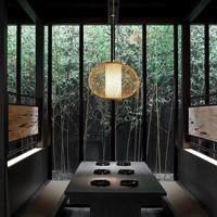 Fine Asianliving Plafoniera Lampada A Sospensione Bambù Paralume Fatto A Mano - Sophia