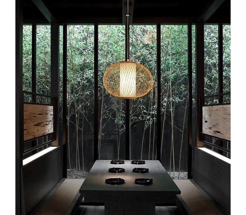 Fine Asianliving Lampara de techo Bambú Lampara Colgante Hecho a mano - Sophia