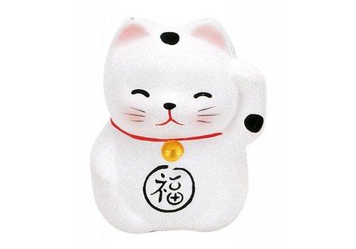 Fine Asianliving Chat Porte-Bonheur Maneki Neko Mini Blanc