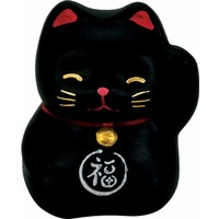 Lucky Cat Maneki Neko Mini Zwart