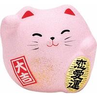 Lucky Cat Maneki Neko Klein - Love Roze 5.5cm